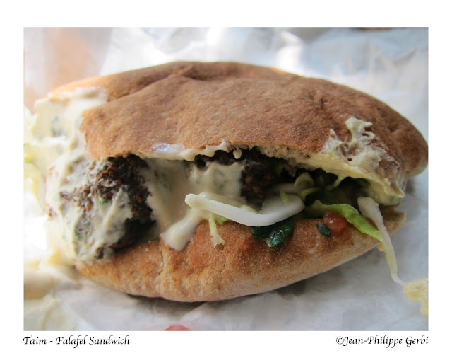 Image of Falafel sandwich at Taim in NYC, New York