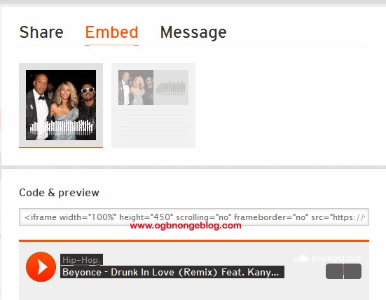 soundcloud embed code