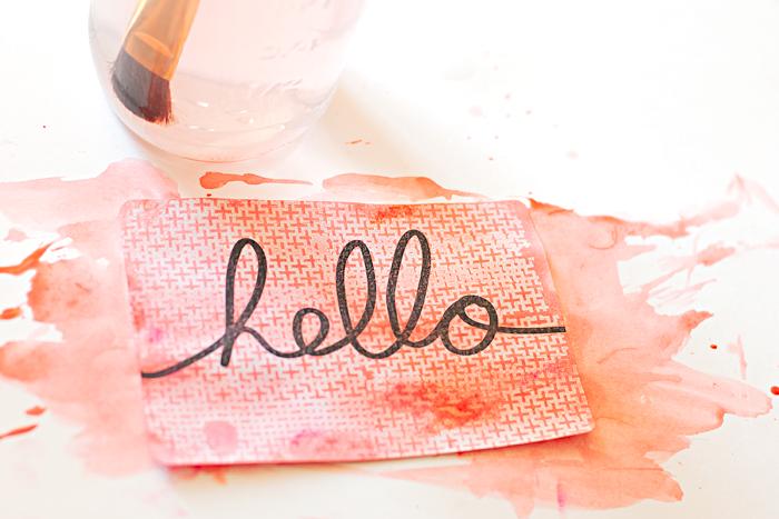 Heather Greenwood | mixed media tutorial | Gelatos | stamping | emboss resist