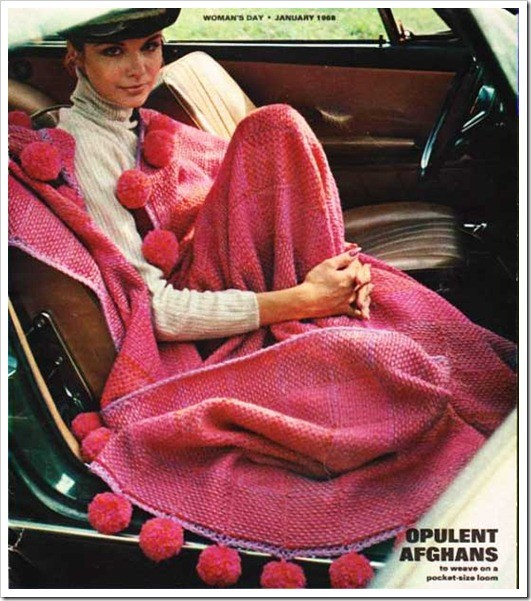 make your own pink pom pom blanket image via in my own style