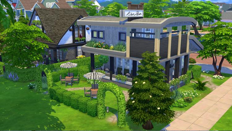 My sims 4 blog small garden house by fujikoma for Garden design sims 4