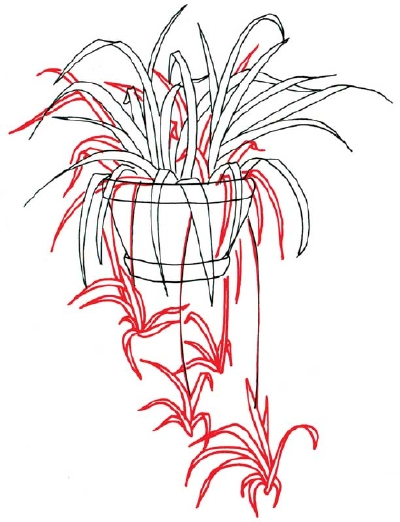 how to draw a weed plant step by step