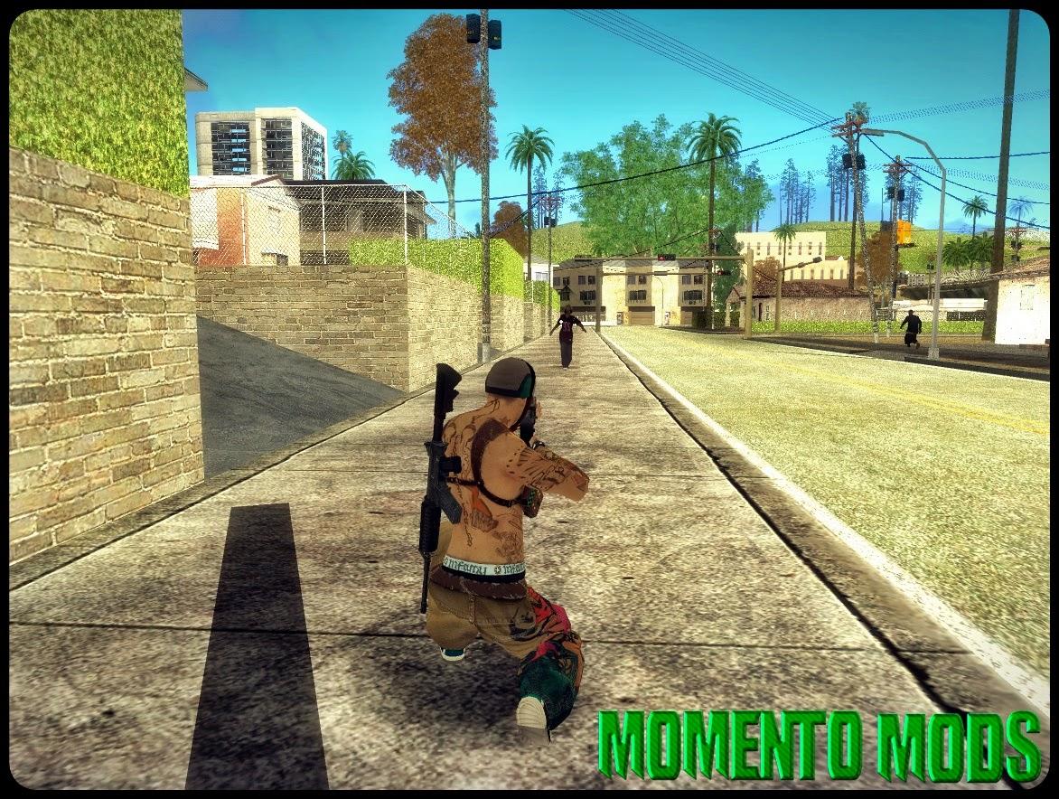 GTA SA - Mod Armas Nas Costas