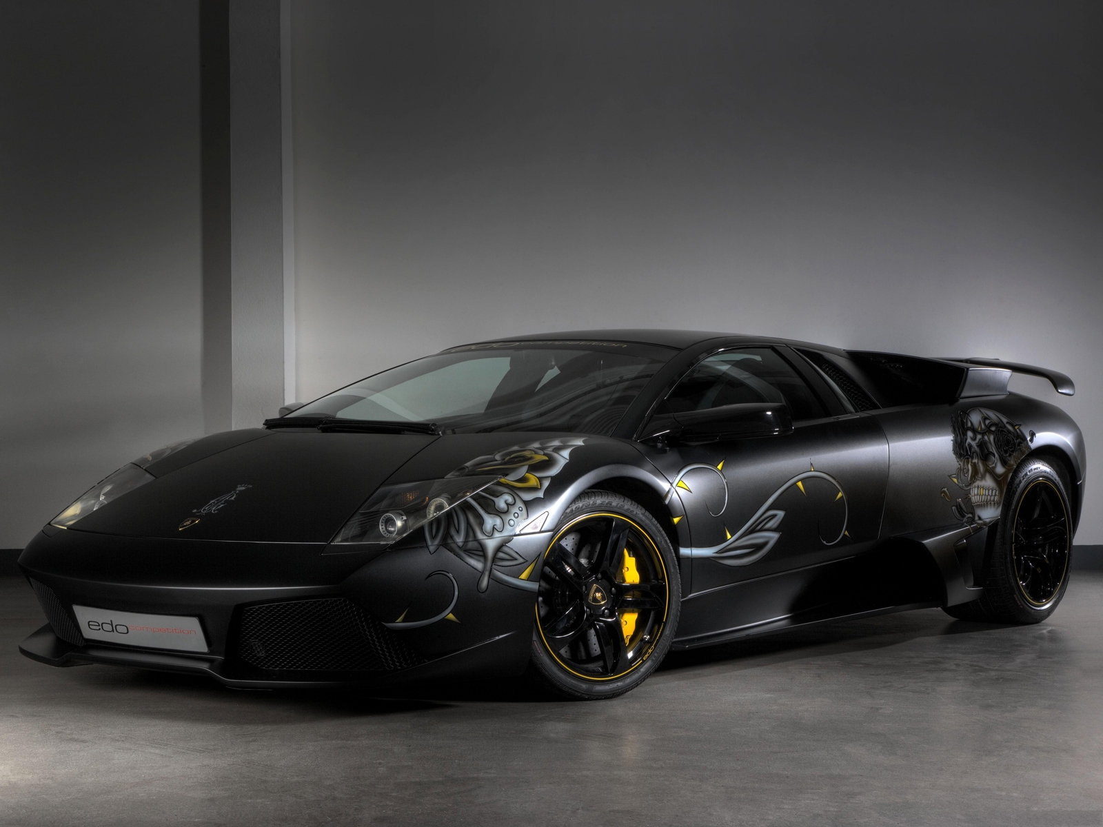Luxury Lamborghini Cars Black Lamborghini Murcielago Wallpaper