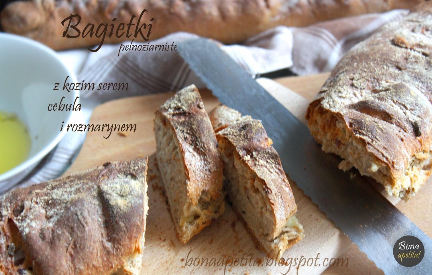 Bagietki z serem kozim i rozmarynem z cyklu Ezoteryczne spotkanie przy piekarniku!