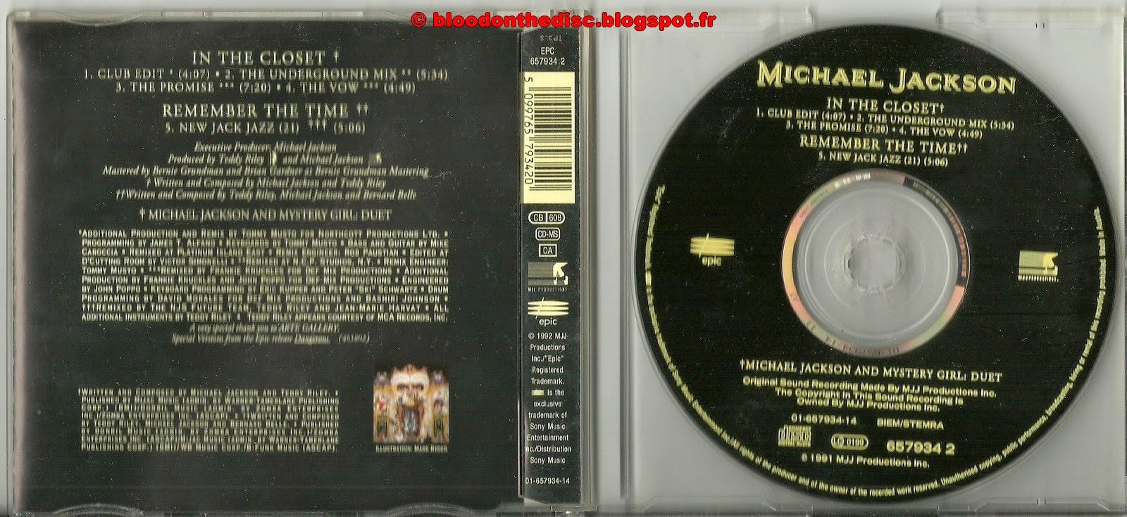 In The Closet Maxi CD Single