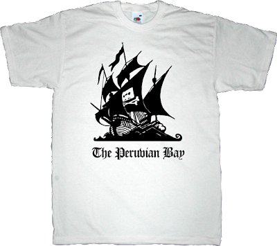 the pirate bay peer to peer p2p useless lawsuits useless copyright freedom useless patents useless lawyers t-shirt ephemeral-t-shirts peru