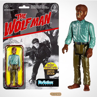 "San Diego Comic-Con 2015 Exclusive Universal Monsters ""Flocked"" The Wolfman ReAction Retro Action Figure by Funko & Super7"