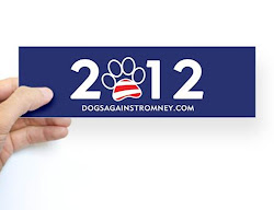 "Official Dogs Against Romney ""2012"" Bumper Stickers & Magnets"