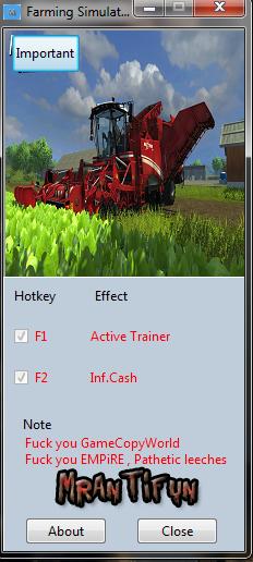 скачать трейнер для симулятора фермы 2015