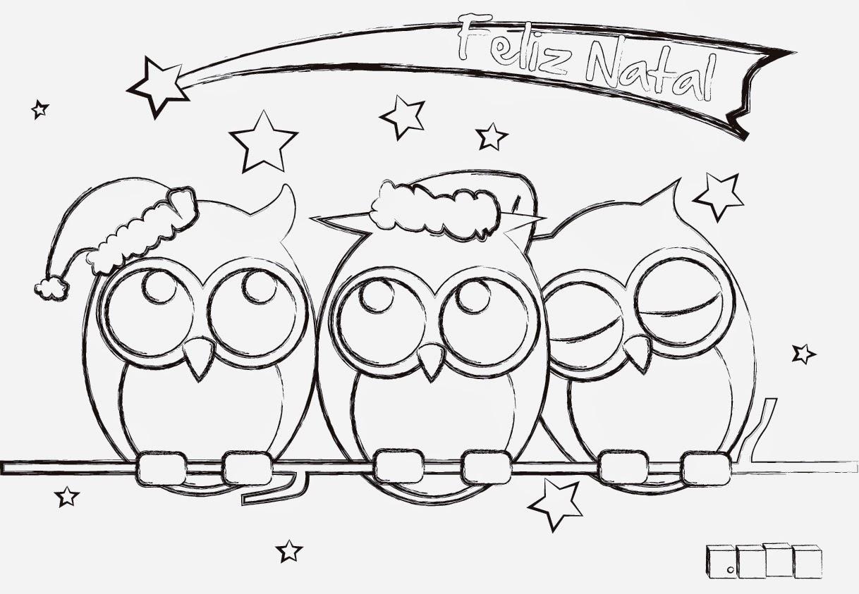 Desenhos para pintar desenhos de corujas para colorir for Buscar dibujos de navidad