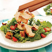 Grilled Chicken & Arugula Caesar Salad with Grilled Croutons