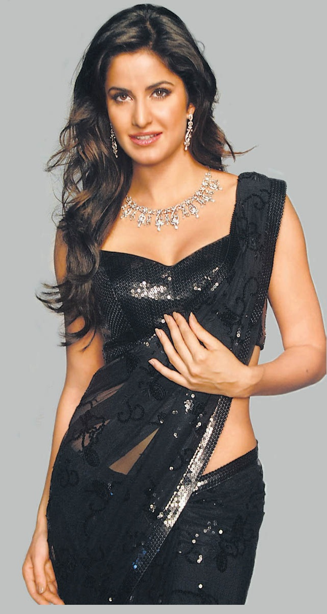 Katrina-Kaif-In-Black-Saree
