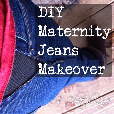 DIY Maternity Jeans Makeover: a cloth life {blog}