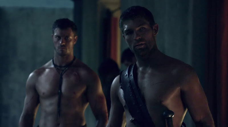 Daniel Feuerriegel Shirtless in Spartacus Vengeance s2e02