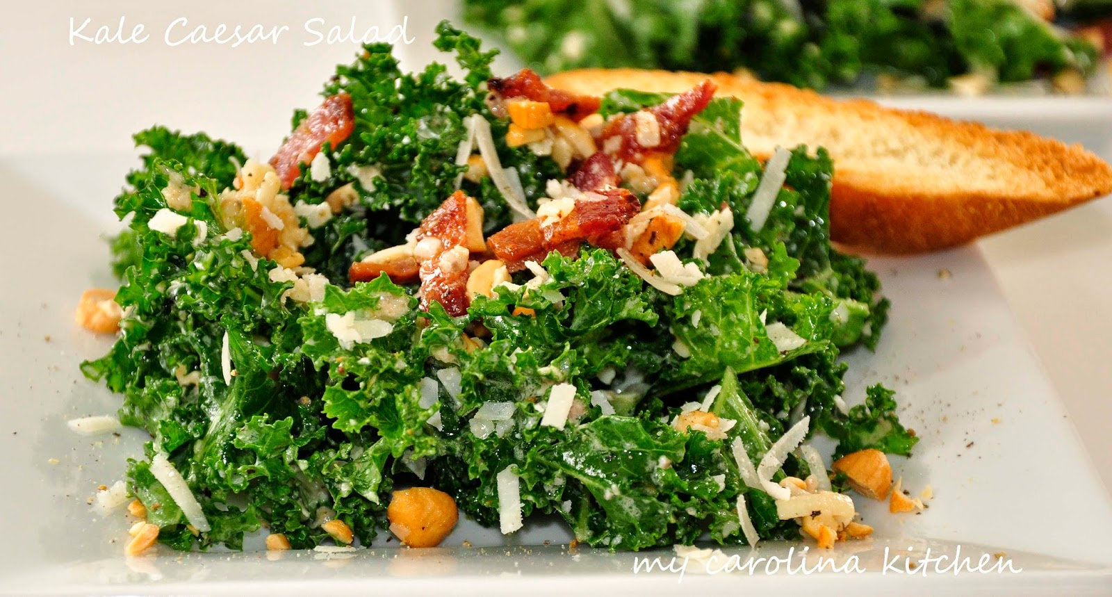 Kale Caesar Salad with Smoky Bacon and Cashews - A Fresh New Spin on a ...