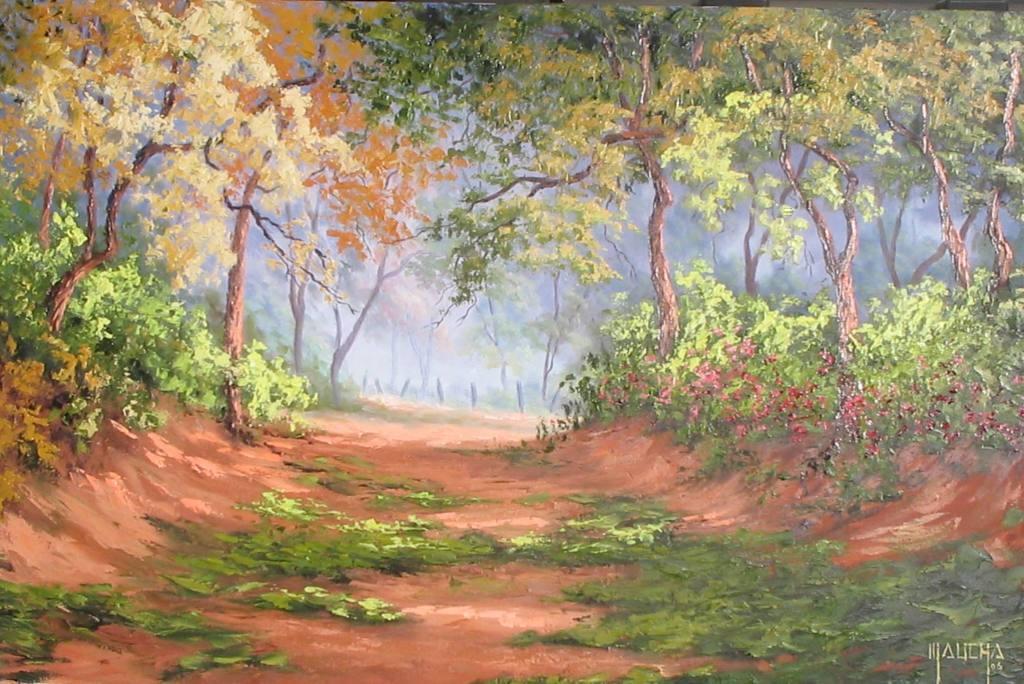 """""""Caminho para fazenda"""" (óleo s/ tela 100x65 - Junho 2006)"""
