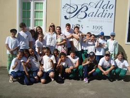 Na casa da Cultura em Treviso, com alunos da escola Udo Deeke, professora Denise Losso.