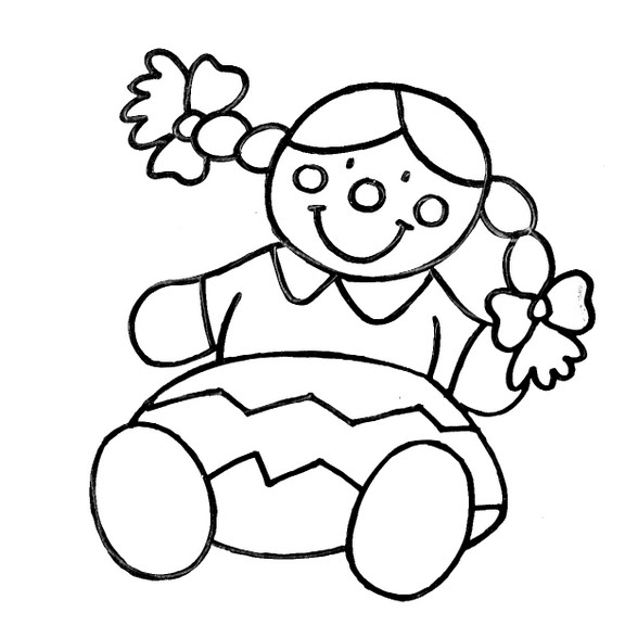 Dibujos infantiles dibujo infantil mu eca for Dibujo de una piedra para colorear