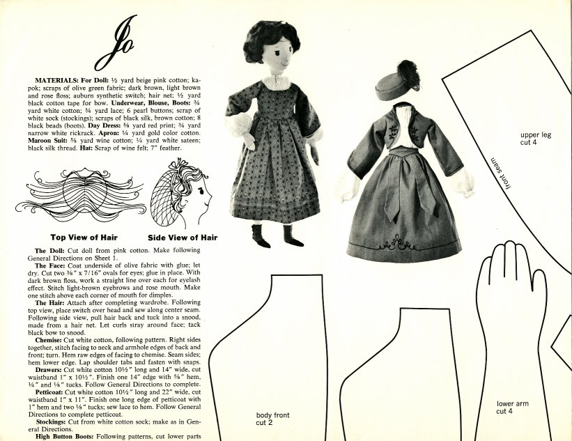 Vintage Cloth Doll Patterns: Little Women designed by Joan Russell ...