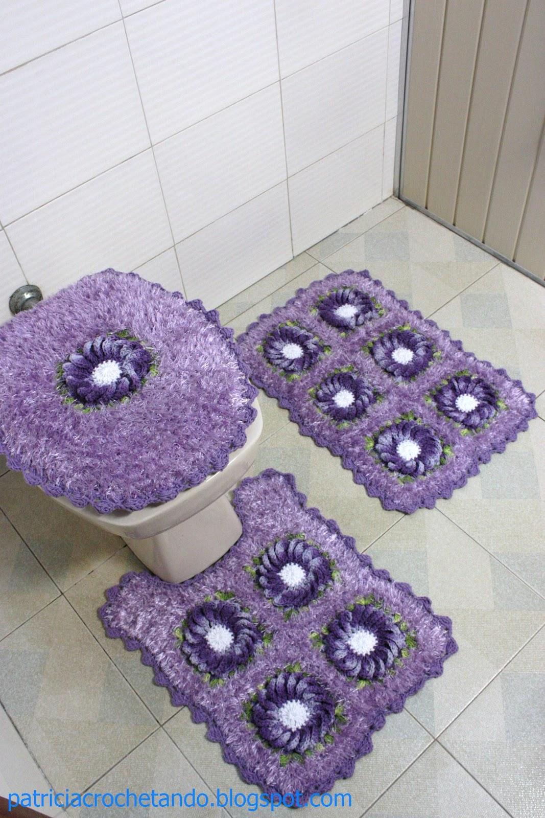 patricia crochetando: jogo de banheiro com felpudinho Americana #624883 1067x1600 Balança De Banheiro Americanas