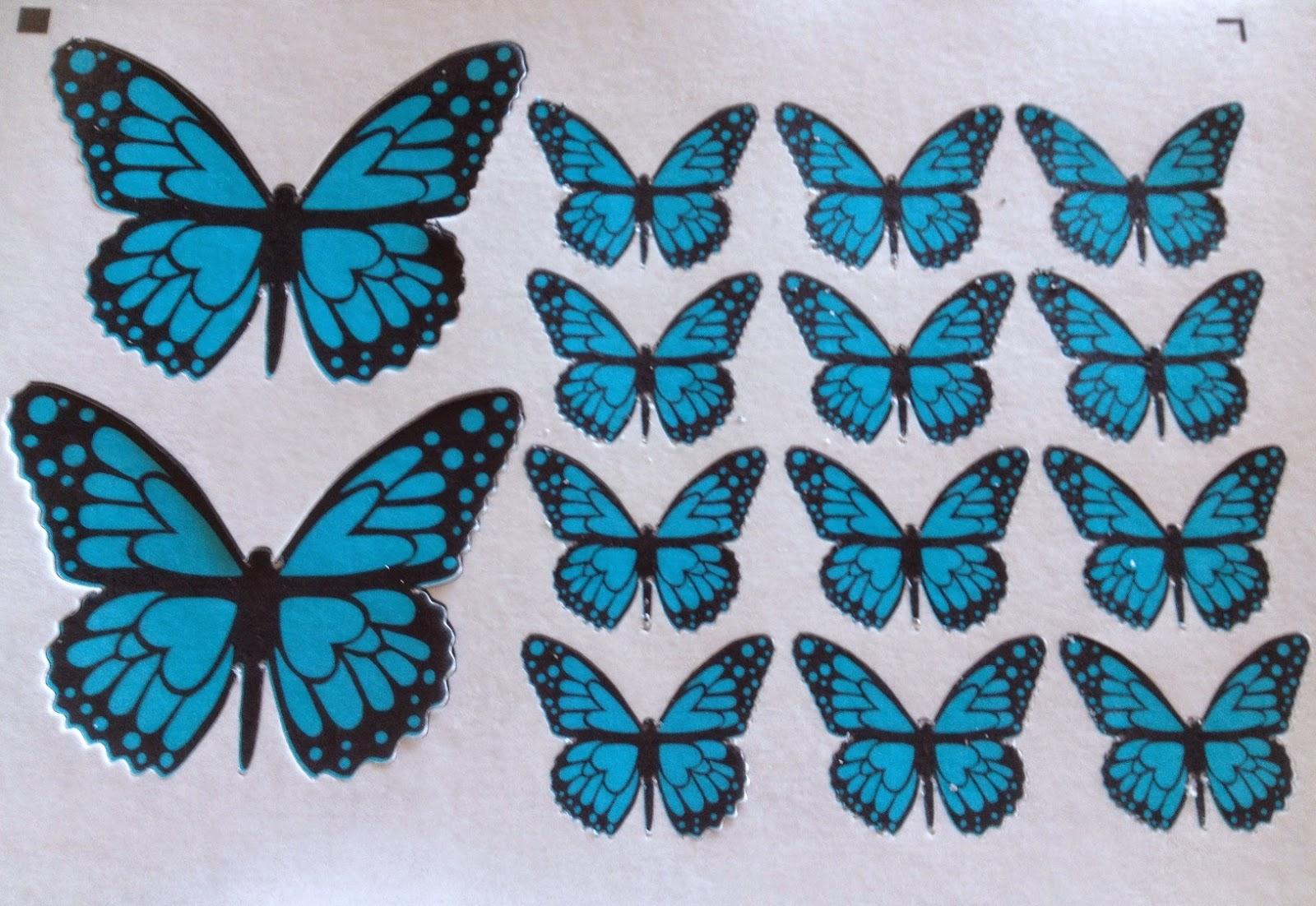 Fotopastel paso a paso para decorar una tarta con - Como hacer mariposas de papel para decorar paredes ...