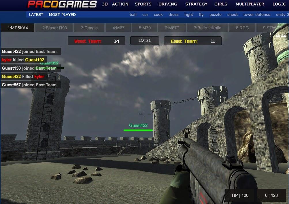 counter strike tarzında online oyunlar üyeliksizde giriş yapılabiliyor