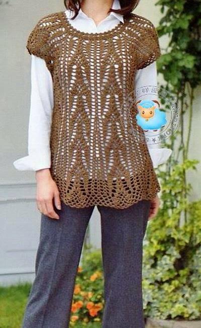 Crochet Granny Square Tunic Pattern : Crochet Sweaters: Crochet Tunic Pattern For Women