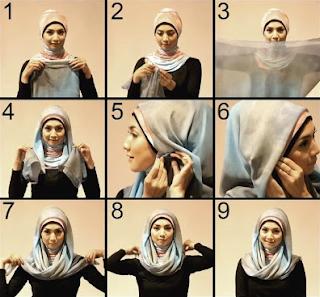 Tutorial Jilbab Paris Segi Empat