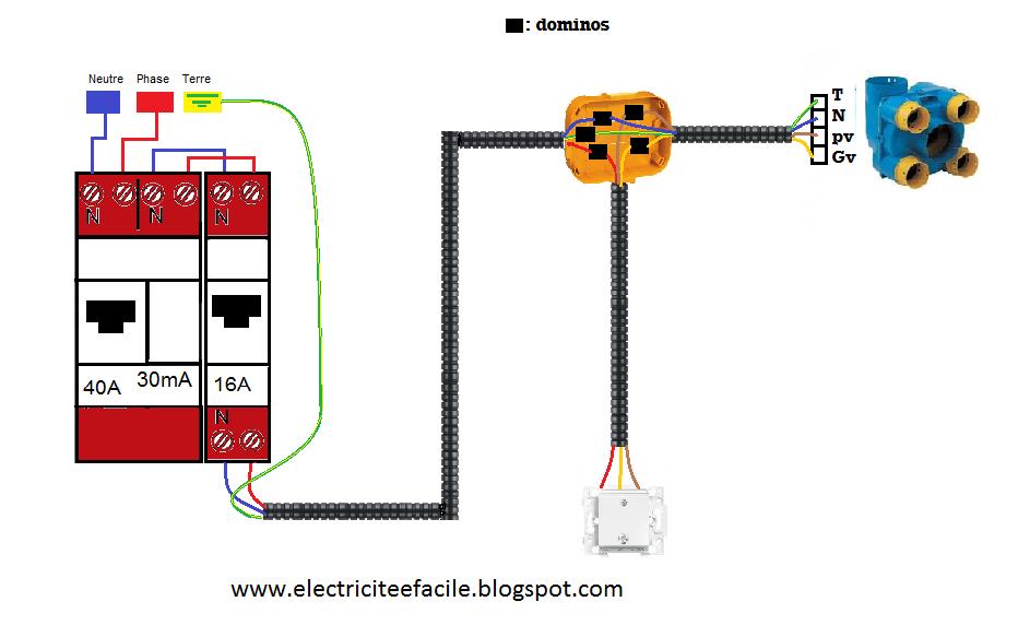 Sch ma lectrique de la vmc 2 vitesses schema electrique - Comment installer une vmc simple flux ...