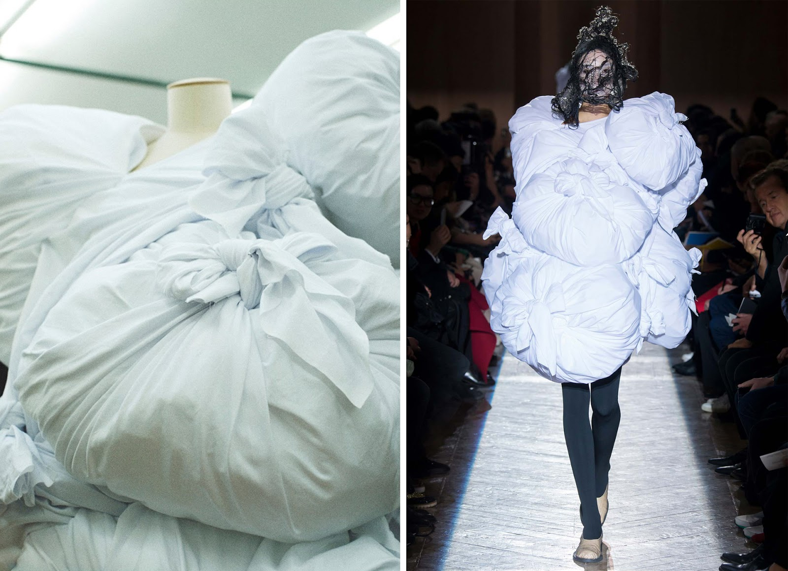 wearable object in fashion one more good one comme des garçons duvet dress 2015 show