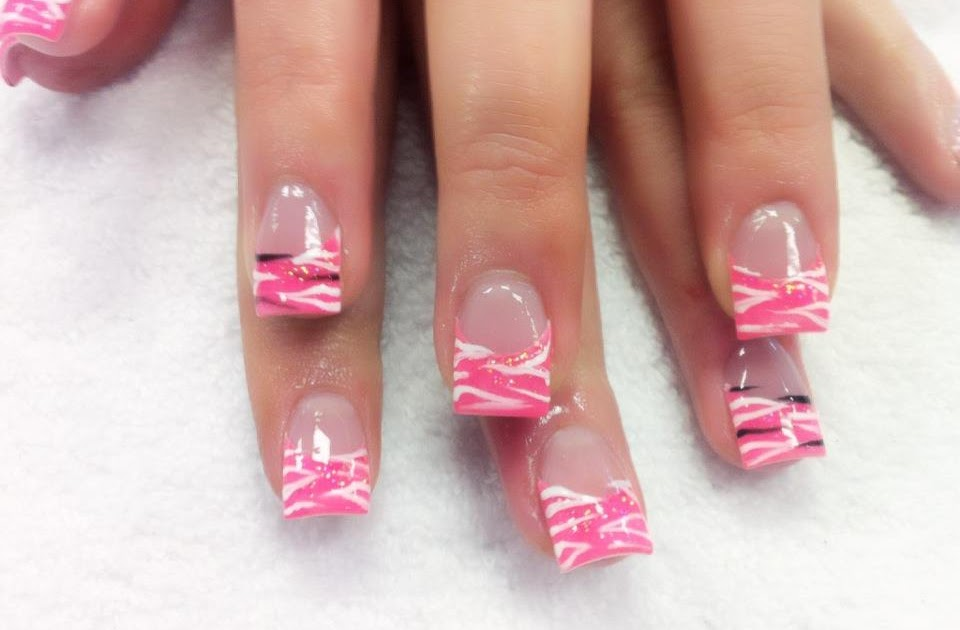 Simple Pink And Purple Nail Designs
