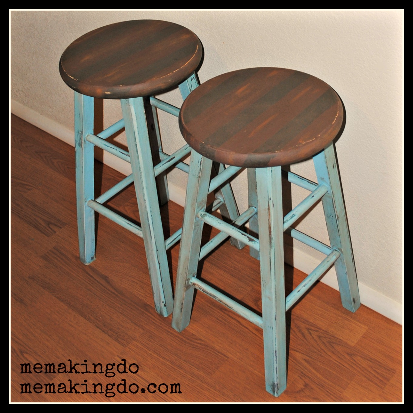 Bar Stool Makeover. Full resolution  portrait, nominally Width 1362 Height 1362 pixels, portrait with #9C552F.