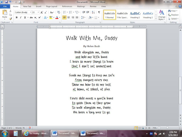 Wild image pertaining to walk with me daddy poem printable