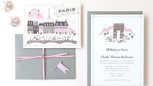 Invitacion de boda en París