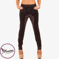 Jeansi casual, de culoare gri, cu insertii intr-o nuanta mai deschisa ( )