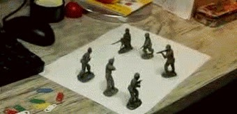 Toy Soldiers Optical Illusion