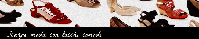 scarpe moda con tacco comodo