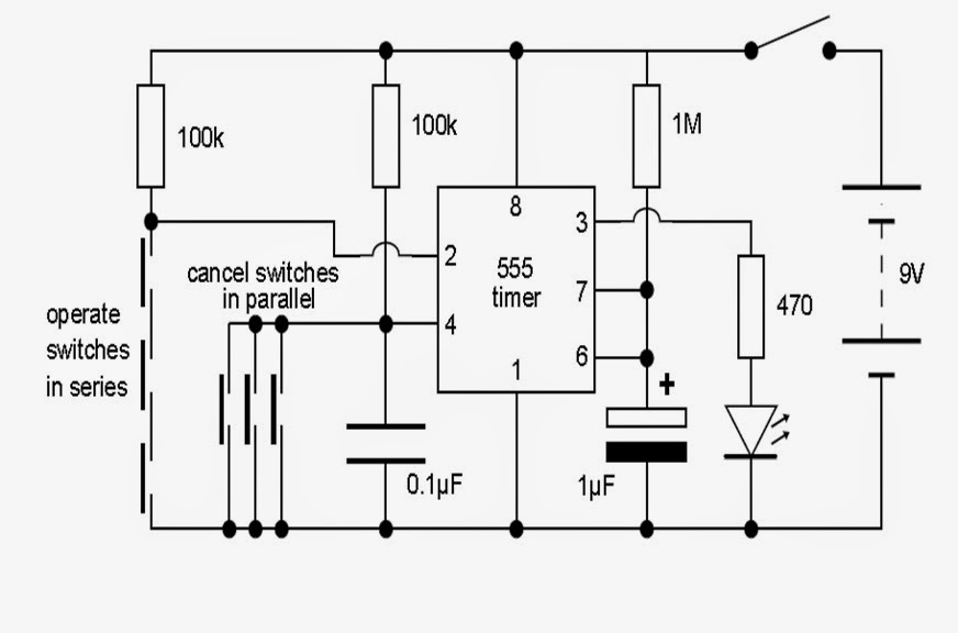 implement electronic lock using ic 555