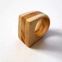 olive and maple wood ring