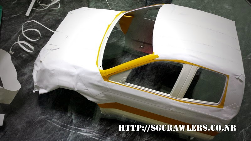 tamiya - Boolean21's Tamiya Highlift Tundra - new paint scheme - Ivan Stewart Toyota Theme 20140802_095319