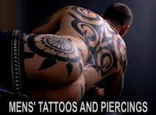 MENS' TATTOOS AND PIERCINGS