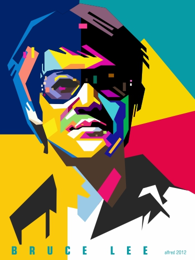 WPAP Bruce Lee Corel Draw X6