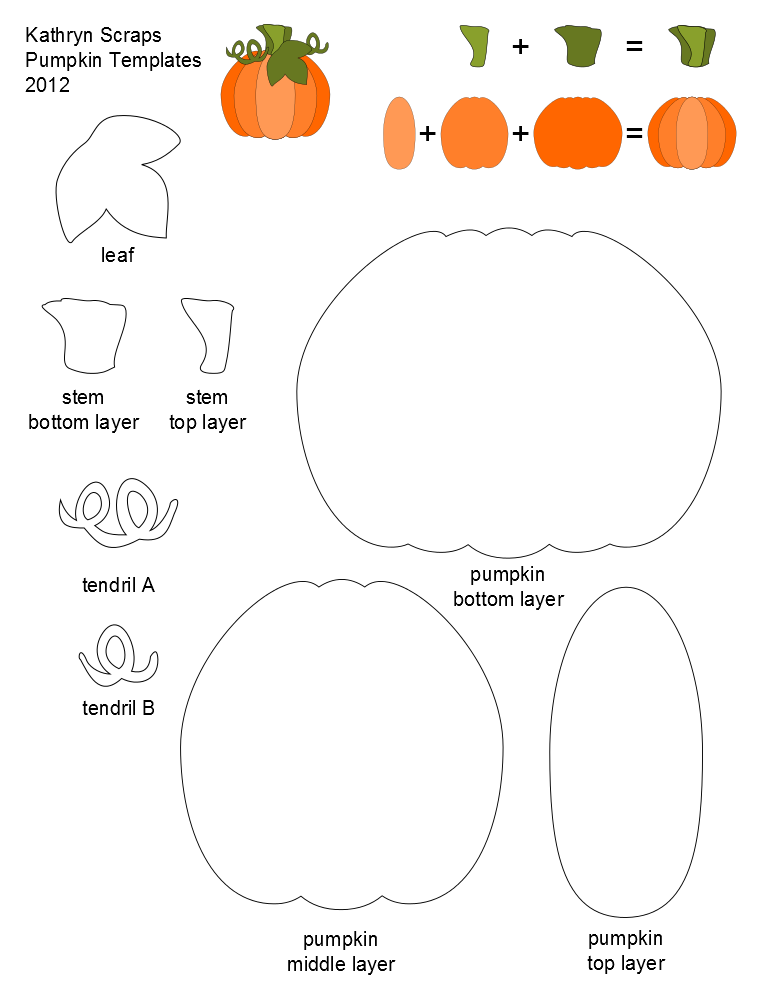 Kathryn Scraps  Layered Pumpkin Template