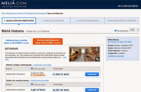 Comparando costos de viaje a Cuba