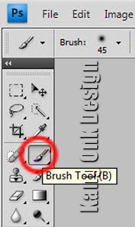 Letak Brush Tool pada Photoshop