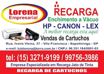 LORENA EMPRESARIAL RECARGA E VENDA DE CARTUCHOS