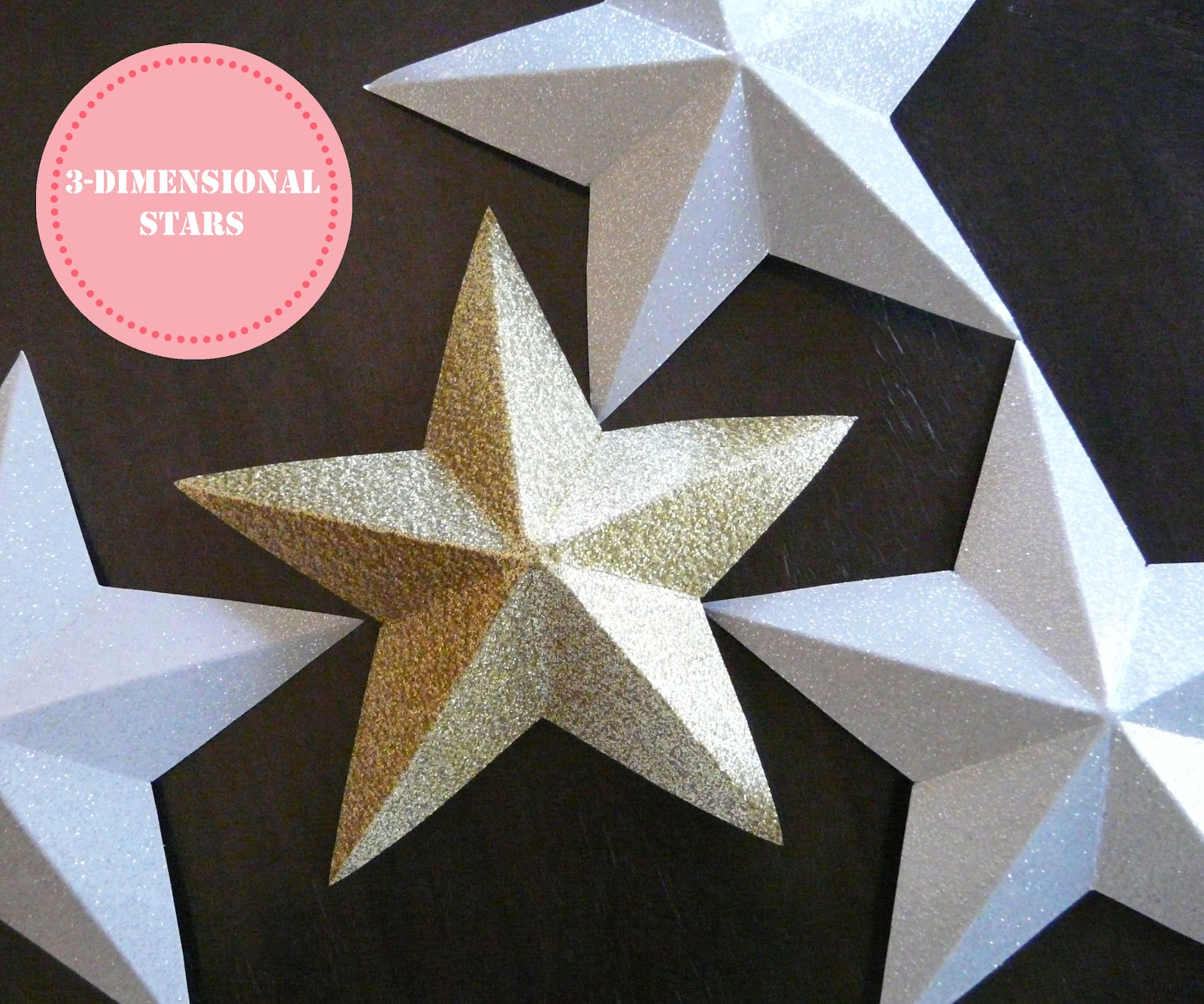 make 3 dimensional paper stars. Black Bedroom Furniture Sets. Home Design Ideas