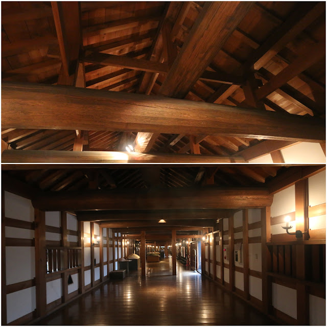 Reconstruction of the wooden interior of Ninomaru Omote Gate by using the original building methods and materials at Hiroshima Castle and Tower in Japan