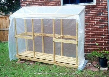 how to build a small lean to greenhouse